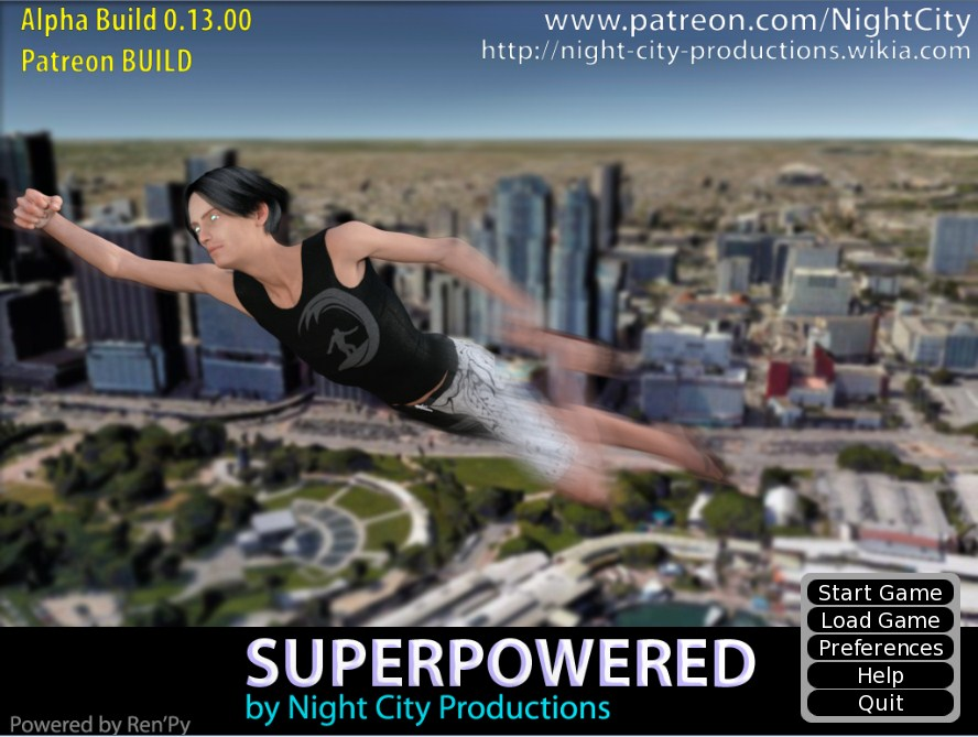 Superpowered – Night City Version 0.13.00 / 2017 / Adult 3d game,All Sex, Incest, Anal, Oral, Mature, RPG