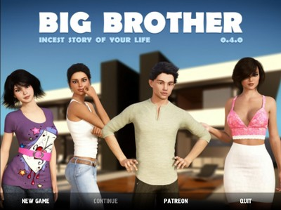 Big Brother [InProgress, 0.4.0.011] (2017) PC Cracked + Cheats / 2017 / RPG, ADV, 3DCG, Big tits, Oral, Mom, Sister, Bunette, Incest