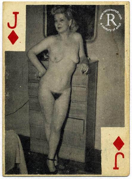 Эротические ретро игральные колоды карт / 952 / jpg